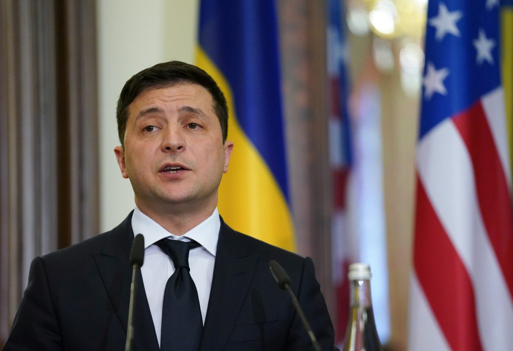 Ukrainian President Volodymyr Zelenskyy is hoping to strengthen cooperation with the Biden administration. (REUTERS/Kevin Lamarque/Pool)