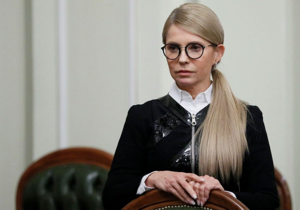 Ukrainian opposition leader Yulia Tymoshenko waits before a meeting with German Chancellor Angela Merkel at the Ukrainian parliament in Kyiv, Ukraine November 1, 2018. REUTERS/Gleb Garanich